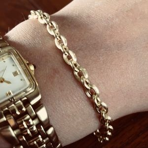 18k Yellow Gold Cable Link Bracelet